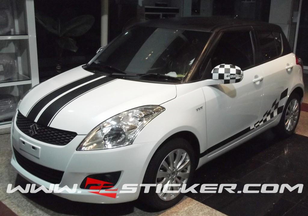 Car design sticker stripes - C2 Sticker Racing