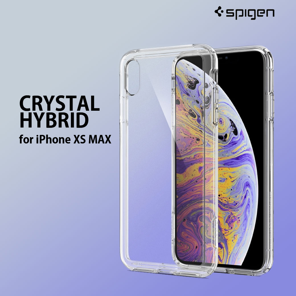 cheaper d26a4 4faf1 iPhone Xs Max Spigen Crystal Hybrid Case