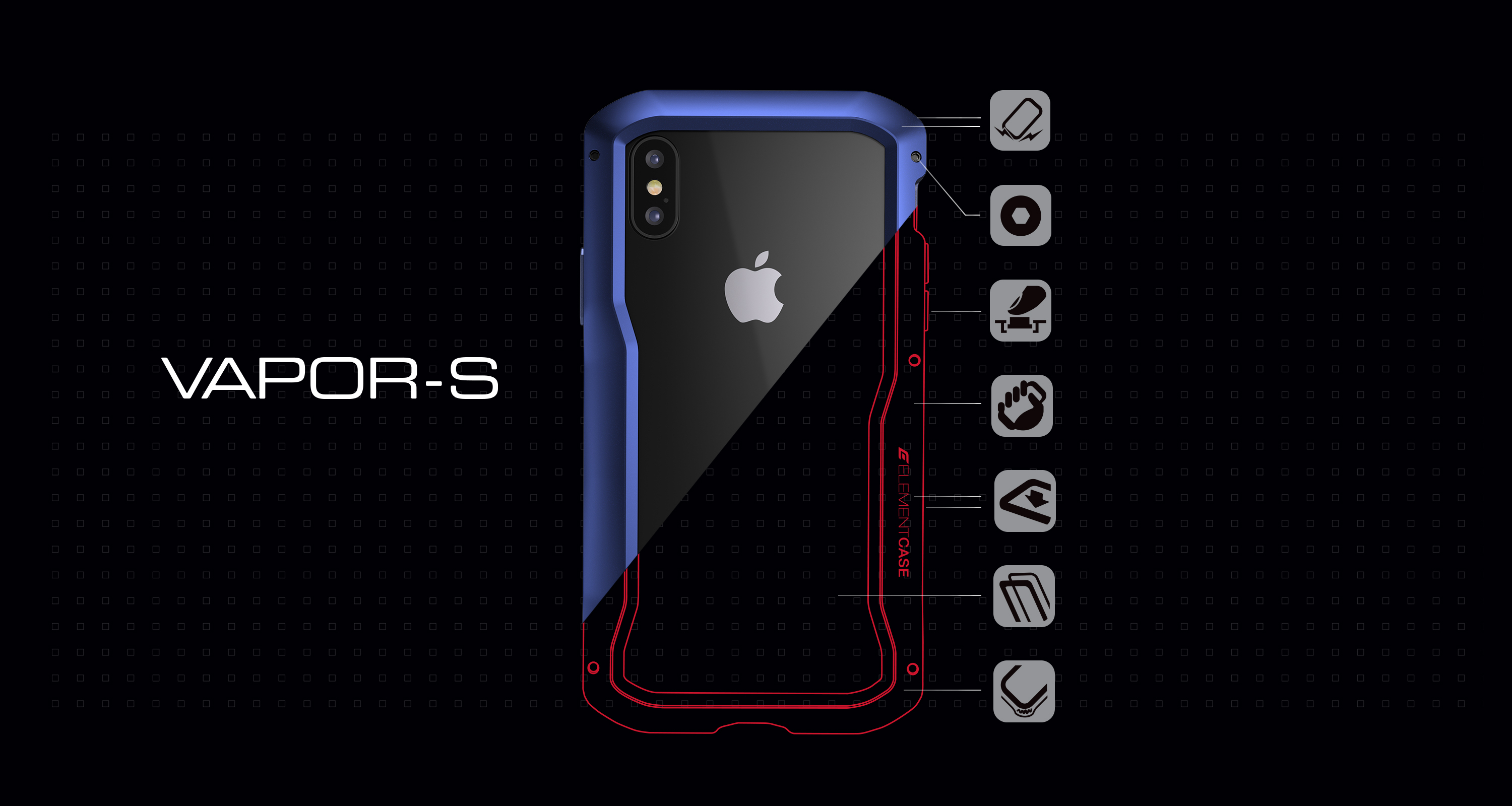 low priced 8f25b 133a1 iPhone Xs Max Element Case Vapor-S Case