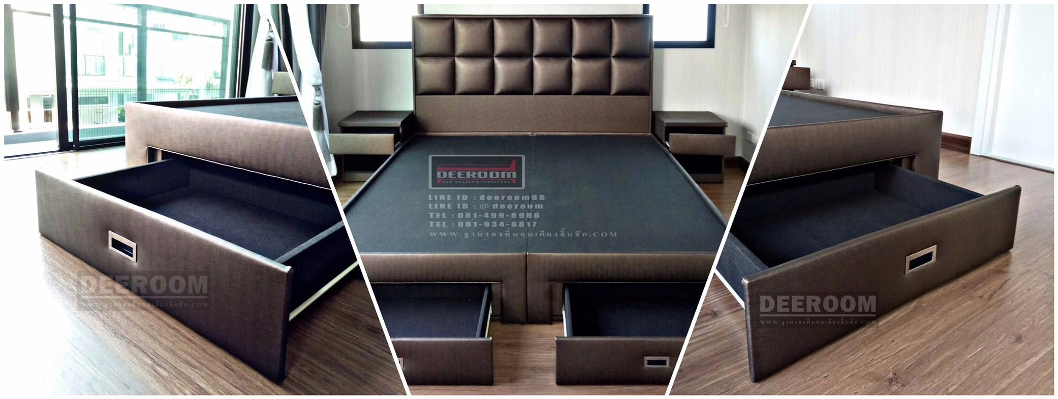 เตียงนอนรุ่น Mosaic design type A พร้อมฐานรองที่นอนแบบมีลิ้นชัก