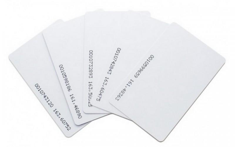 บัตรคีย์การ์ดบาง 0.8มิล สีขาว Keycard การ์ดพลาสติก