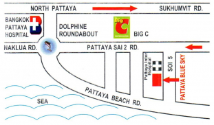 Pattaya Blue Sky Hotel Map