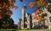 Clock Tower, Registry Building, U of Otago in Autumn.JPG
