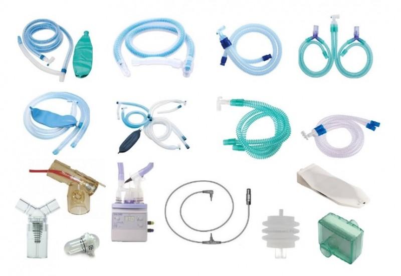 ชุดสายวงจรช่วยหายใจและอุปกรณ์ประกอบสำหรับเครื่องช่วยหายใจ