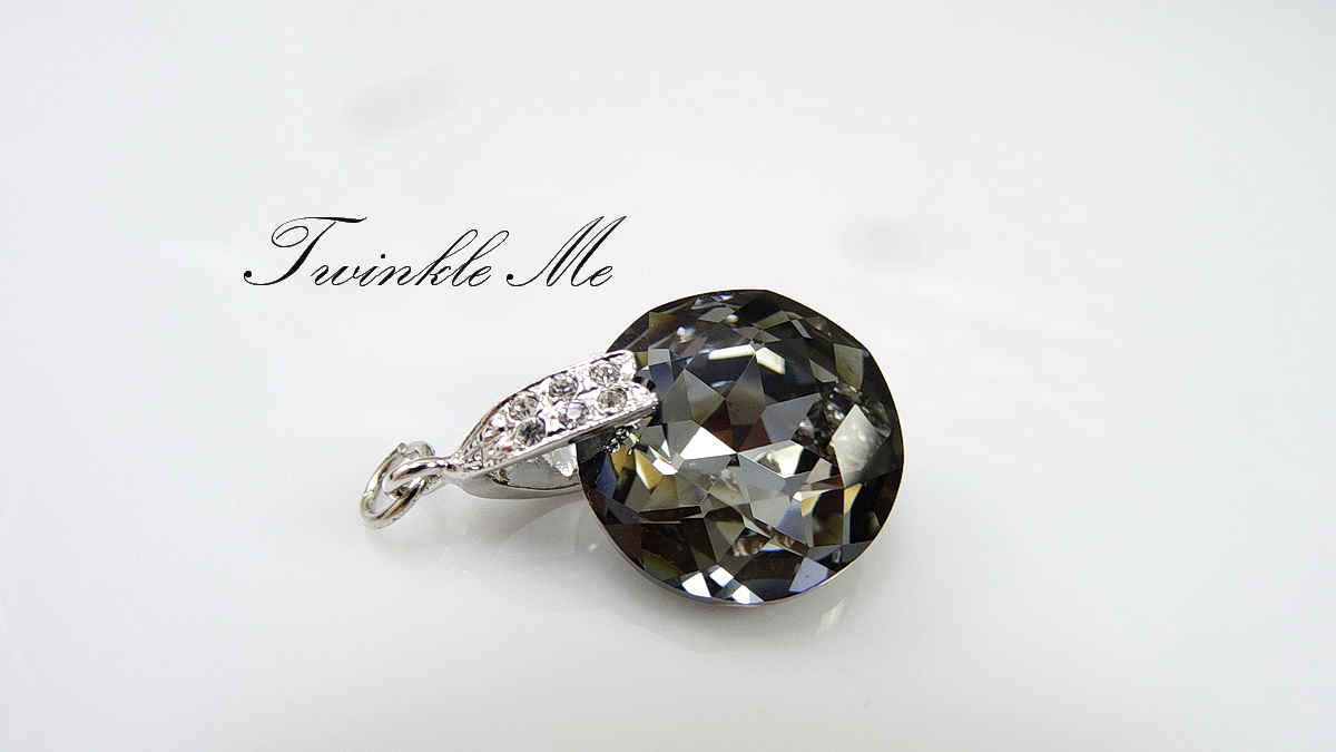 black diamond crystal swarovski pendant